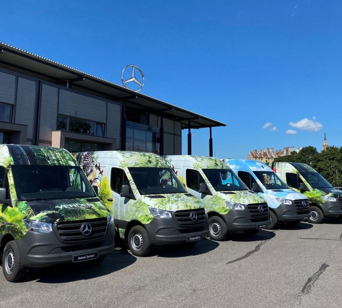Domenikss delivers 17 new Mercedes-Benz Sprinter vans to the company VENDEN