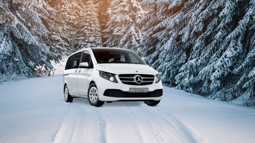 Let's go skiing! Three benefits for skiing holidays when traveling with a Mercedes-Benz minivan